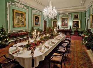 Dining Hall Set for Christmas at Tatton Park NCN