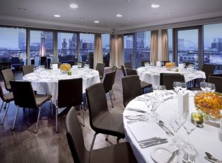 Sky Lounge Dining at Double Tree by Hilton Manchester Piccadilly
