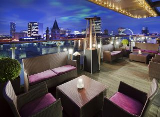 Sky Lounge Terrace at Double Tree by Hilton Manchester Piccadilly