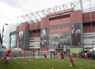Training at Manchester United Football Ground NCN